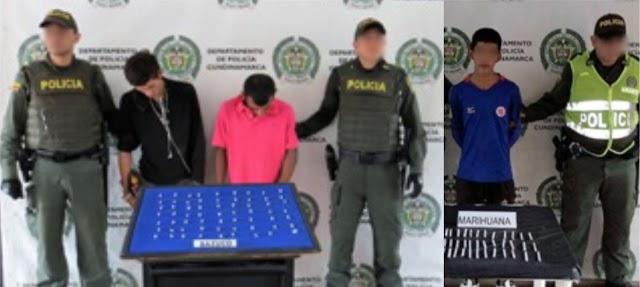 En Girardot (Cundinamarca), Policía logra tres nuevas capturas a presuntos microtraficantes