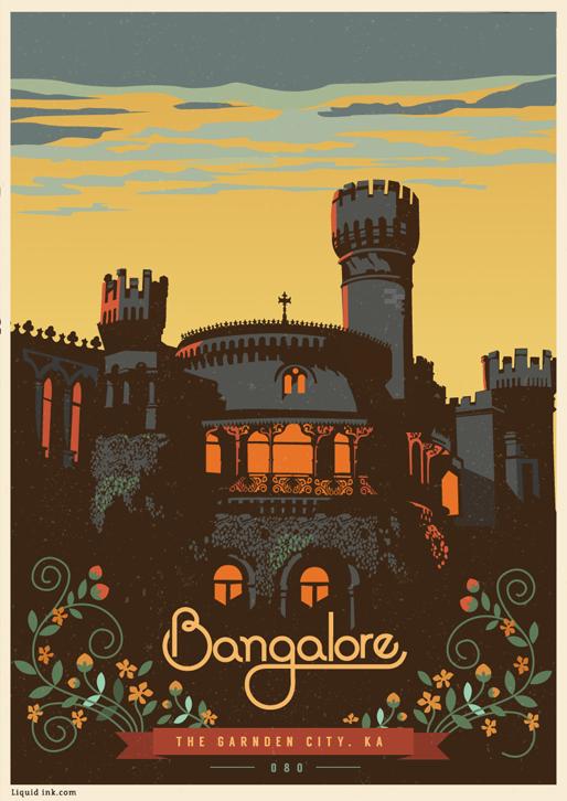 Bangalore - The Garden City Travel Poster