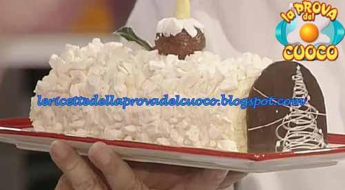 Tronchetto Di Natale La Prova Del Cuoco.Tronchetto Alla Pera E Meringhette Ricetta Paolo Sacchetti