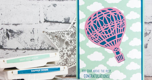 Congratulations Card Featuring Stampin' Up! UK's Lift Me Up Stamp Set & Dies