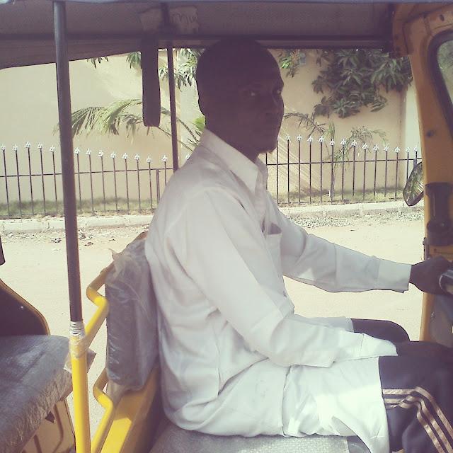 picture of Muhammad Bala, a keke rider in Yola, Adamawa State.