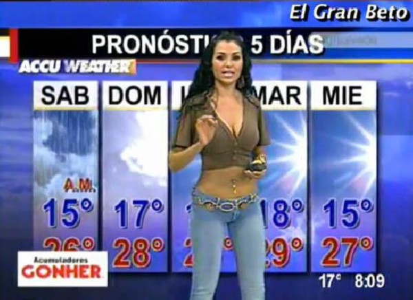 Amusing Hot latina weather girls