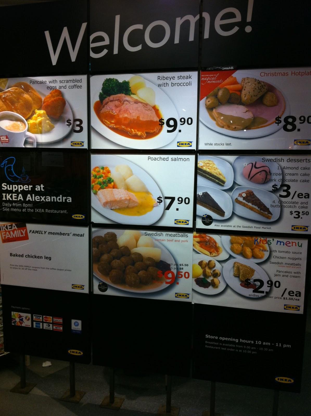 Ikea Restaurant Menu Singapore