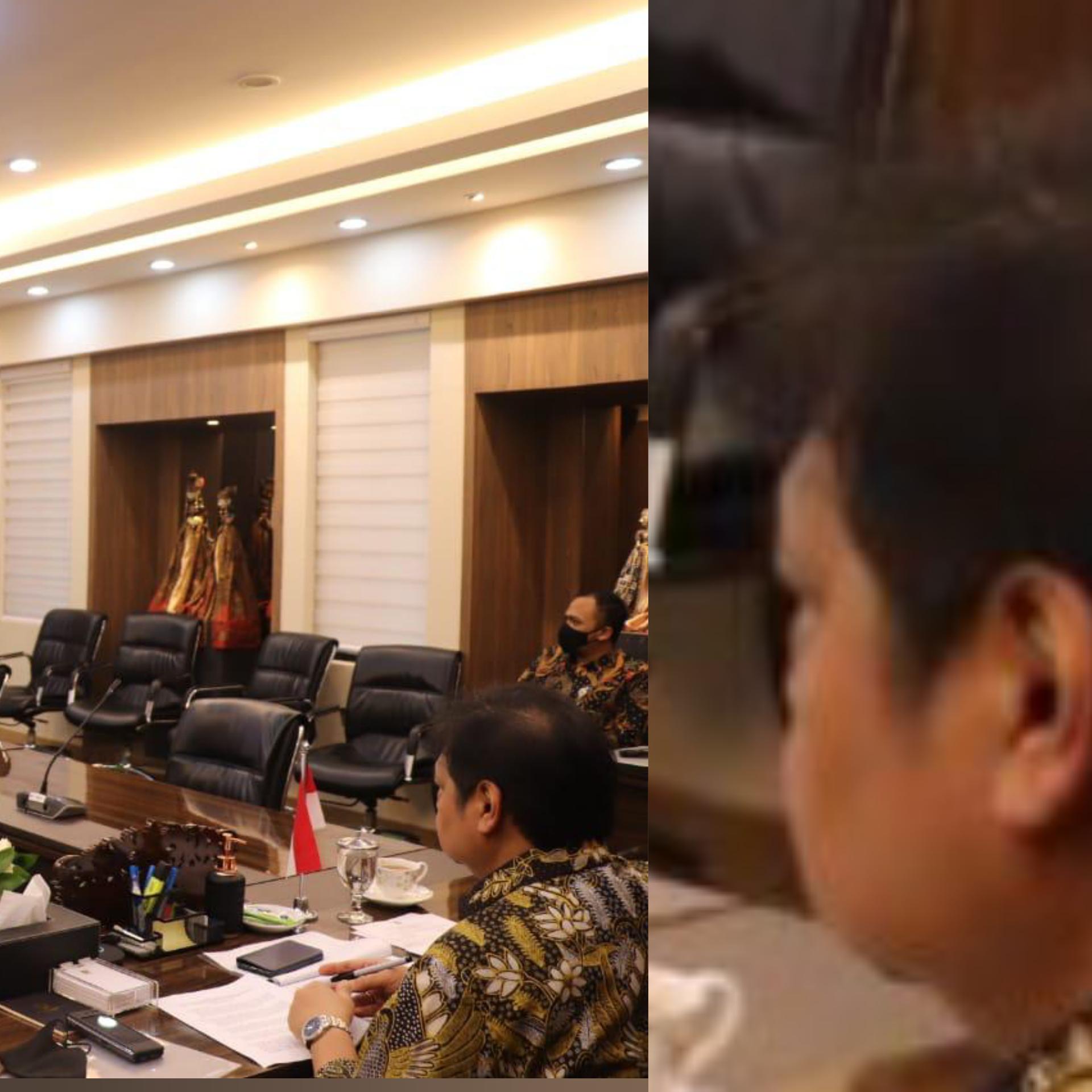 """Meng-zoom Wajah Menteri Airlangga Saat Bicara """"Ikuti Protokol Kesehatan"""""""