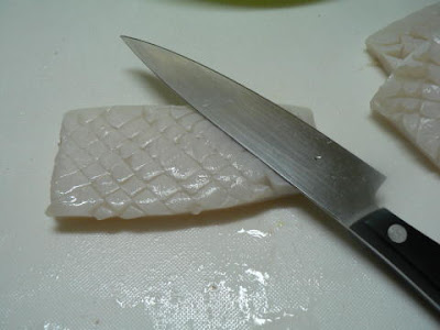 イカに包丁