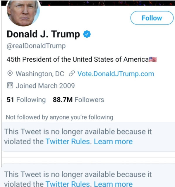 Twitter Permanently suspended Donald Trump's Account after the Capitol riots that took Five lives