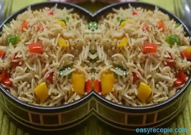 Capsicum rice recipe   How to make capsicum rice at home