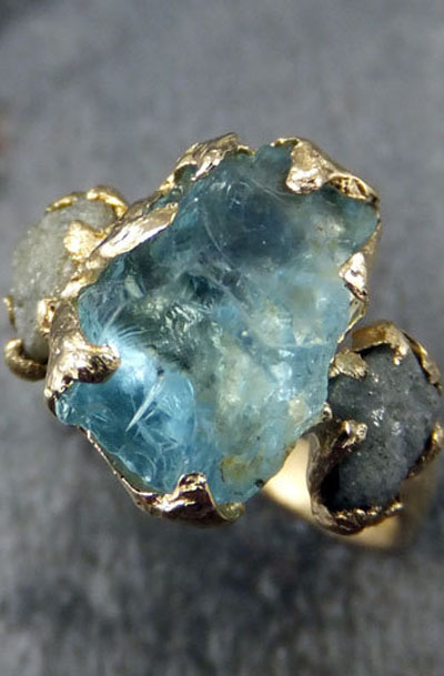 Lovely Clusters Online Curator Raw Uncut Aquamarine