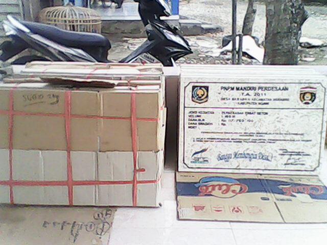 Prasasti Marmer dari PNPM Kabupaten Ngawi