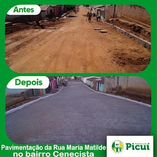 No primeiro ano de gestão Olivânio Remígio pavimenta 1.514m² contra 968m² de gestões anteriores