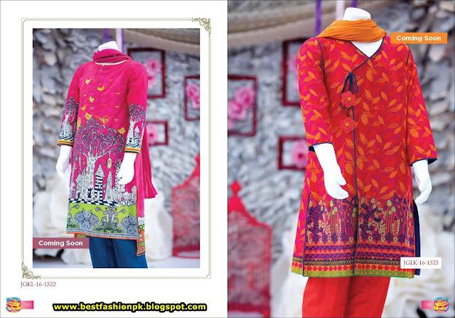 Junaid Jamshed teens Eid Collection 2016 www.bestfashionpk.blogspot.com