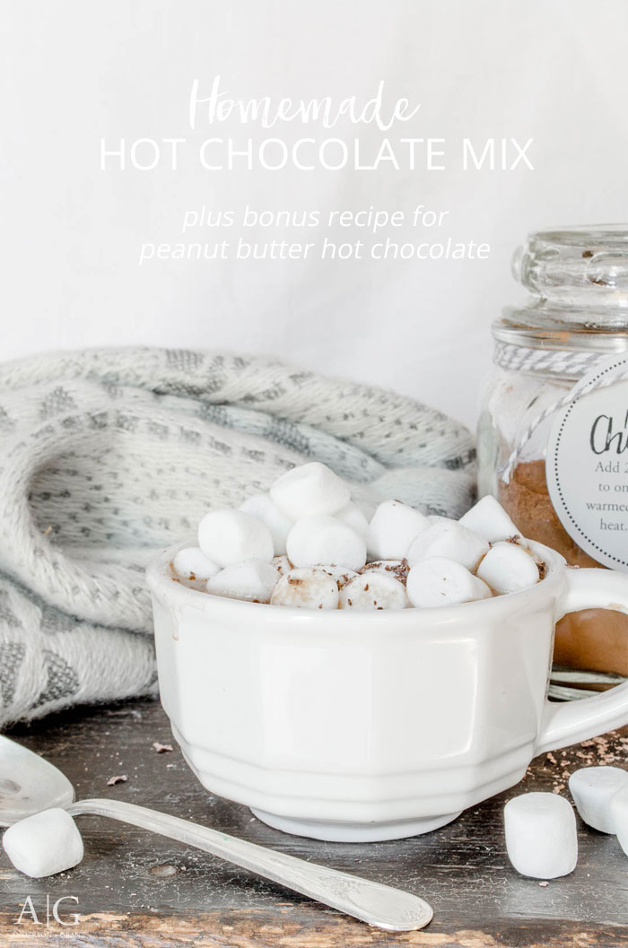 Homemade Hot Cocoa Mix and recipe for Peanut Butter Hot Chocolate.  ||  www.andersonandgrant.com