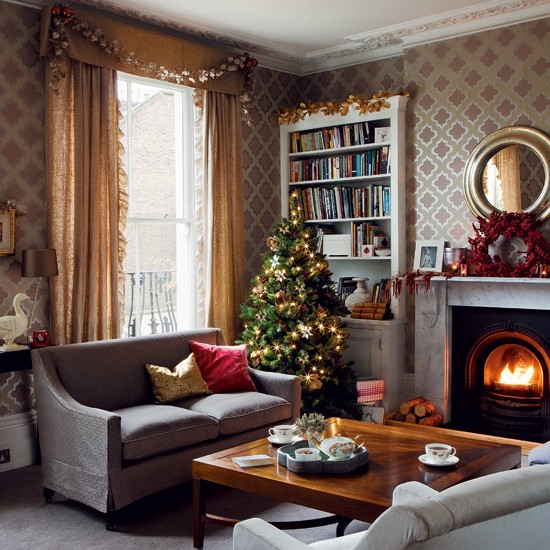 New home interior design timeless christmas decorating - Christmas decorations for the living room ...