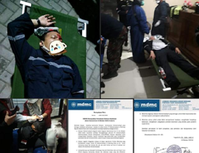 MDMC: Relawan Muhammadiyah Ditabrak Motor Polisi Lalu Diseret dan Dipukul