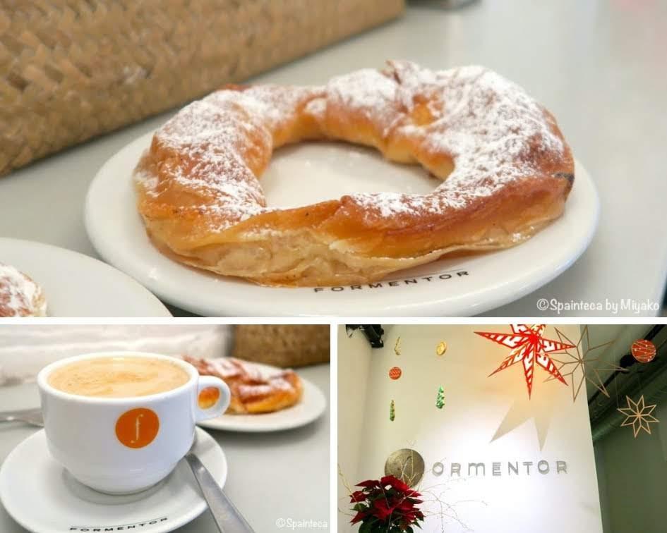 Formentor マドリードのバルで食べるエンサイマダとカフェコンレチェ