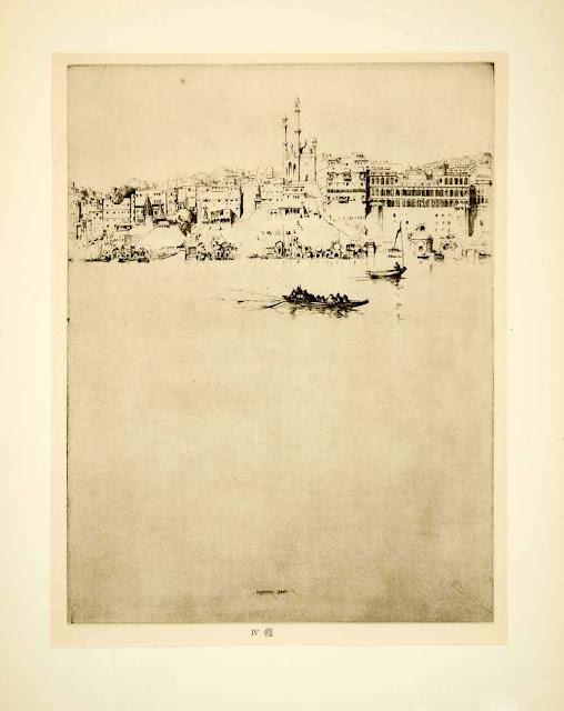 1928. Varanasi, India - Gunga Gyanvapi Mosque (Ernest Stephen Lumsden) - Photogravure
