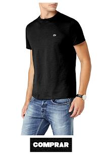 Lacoste Camiseta negra para Hombre