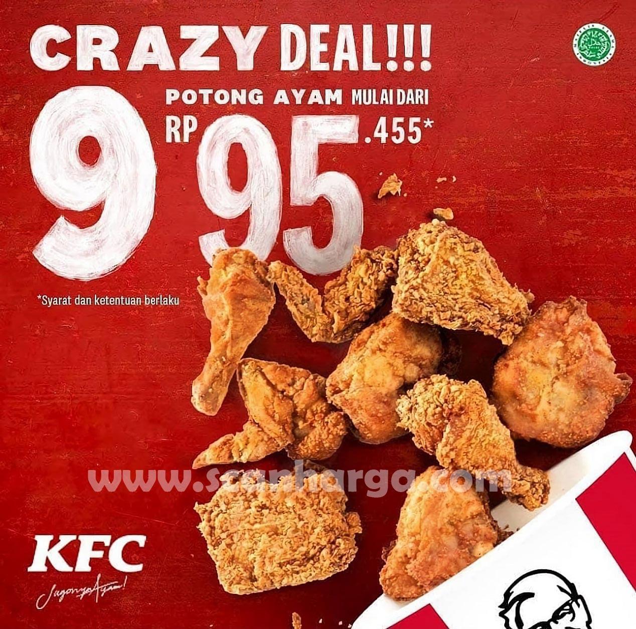 KFC CRAZY DEAL 9! Promo Beli 9 Potong Ayam mulai dari Rp 95.455