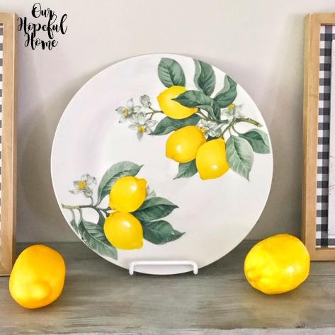 lemons dinnerware plate