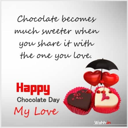 Happy Chocolate Day Status  For Facebook