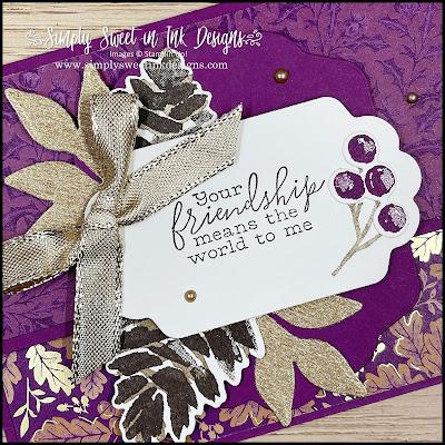 Beautiful fall card with Christmas Season bundle!