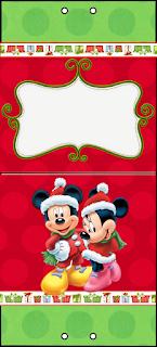 Mickey y Minnie Santa: Kit para Navidad para Descargar Gratis.