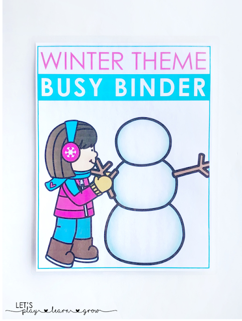 Winter Themed Busy Binder Cover