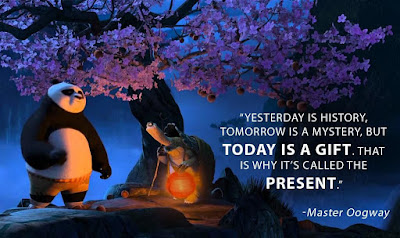 Kung Fu Panda Quote Past History Future Mystery