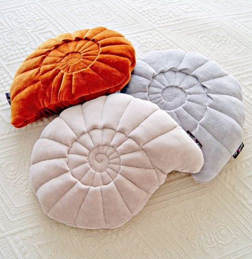 Nautilus Shell Shaped Pillow