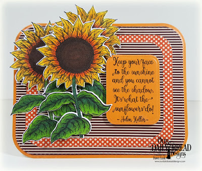 Our Daily Bread Designs Stamp Set: Be A Sunflower, Paper Collection: Fall Favorites, Custom Dies: Sunflower, Double Stitched Rounded Rectangles, Rectangles