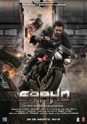 Poster Saaho 2019 Hindi Dubbed HD 720p