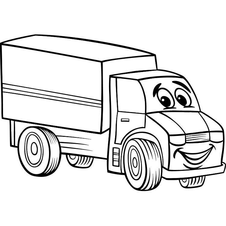 contoh gambar mewarnai gambar mobil truk