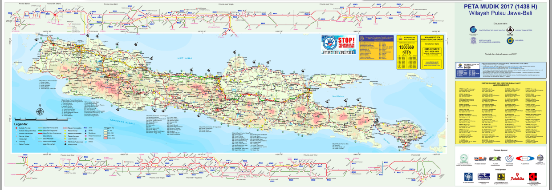 Peta Resmi Jalur Mudik Jawa Bali Tahun