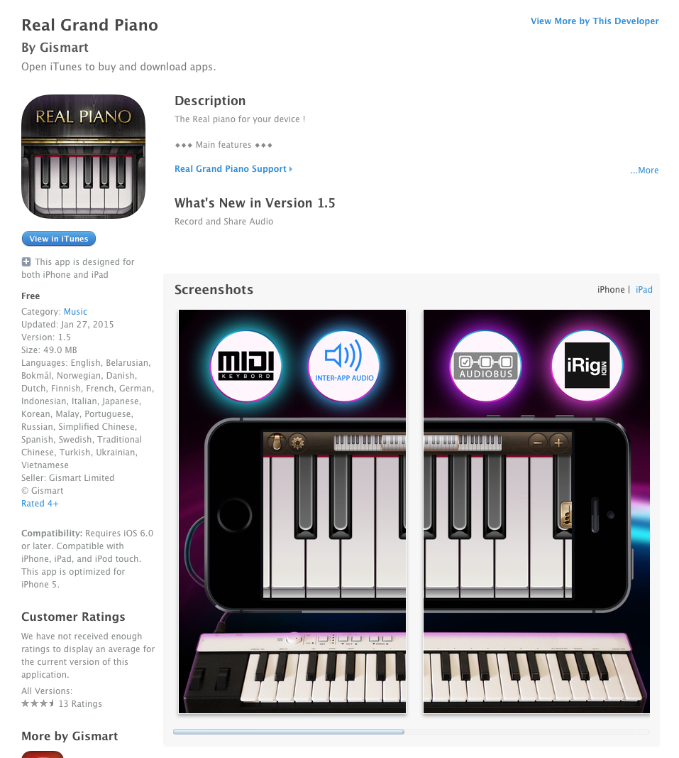 UCET Free iOS App Today - Real Grand Piano - UCET