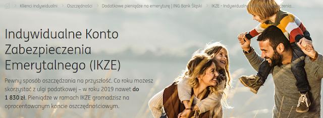 IKZE w ING Banku Śląskim 2019 - oprocentowanie