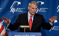 Sen. Rob Portman (R-OH) speaks during the Republican Jewish Coalition Spring Leadership Meeting in Las Vegas, Nevada April 25, 2015. (Credit: Reuters/David Becker) Click to Enlarge.