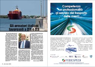 DICEMBRE 2018 PAG. 14 - Gli armatori italiani favorevoli a ZES e ZLS