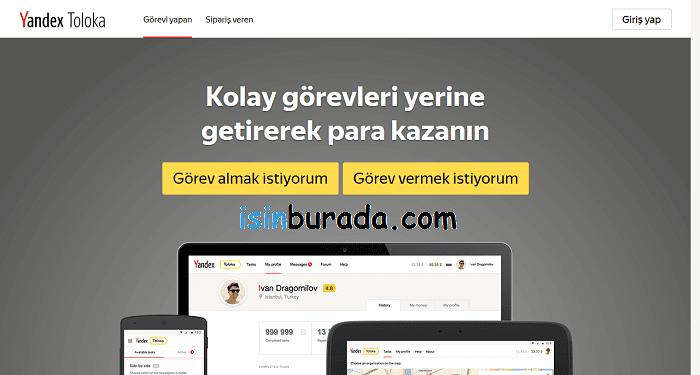 Yandex Toloka ile Para Kazanmak için Üye Olmak