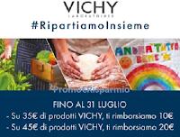 Logo ''Cashback ripartiamo insieme con Vichy'' : rimborso di 10 euro o 20 euro