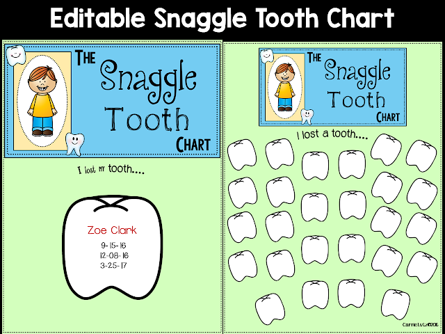 https://www.teacherspayteachers.com/Product/The-Snaggle-Tooth-Chart-2652484