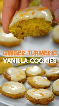 Ginger Turmeric Cookies Frosted With Vanilla Cashews Recipe