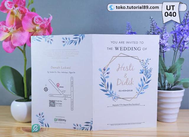 Undangan pernikahan UT040 - Seimpel Lipat 2 +free kartu ucapan terima kasih