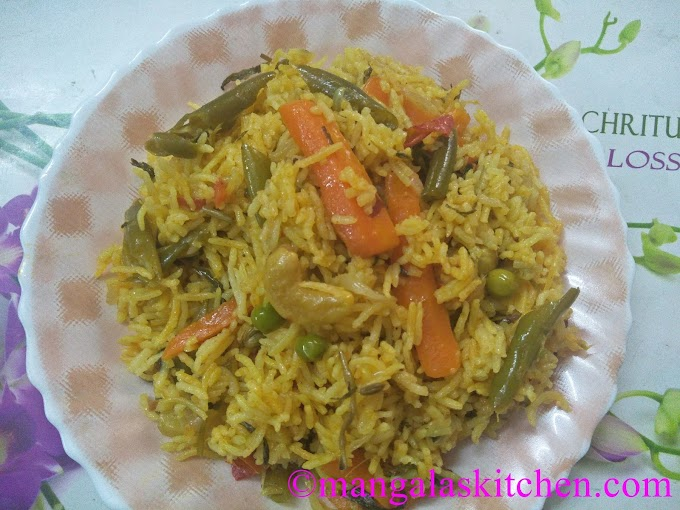 Hotel Style Mixed Vegetable Biryani - Diwali Special Vegetable Biryani - Traditional Authentic South Indian Veg. Biryani Recipe