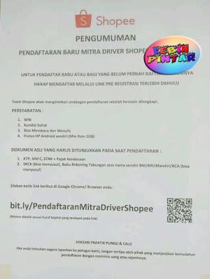 panduan cara mendaftar menjadi driver shopeefood shopee food