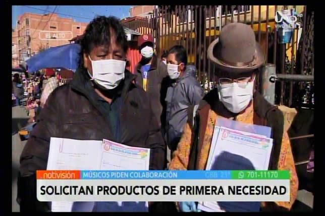 Músicos sin trabajo de El Alto solicitan ayuda en víveres; retribuirán con producción artística