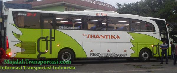harga tiket bus new shantika jurusan Semarang, Kudus, Jepara