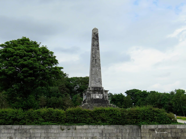Ross Monument on the Mourne Coastal Route on Carlingford Lough in Northern Ireland