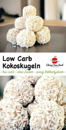 Rezept: Low Carb Kokoskugeln