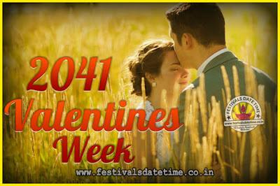 2041 Valentine Week List : 2041 Valentine Week Schedule, Hug Day, Kiss Day, Valentine's Day 2041