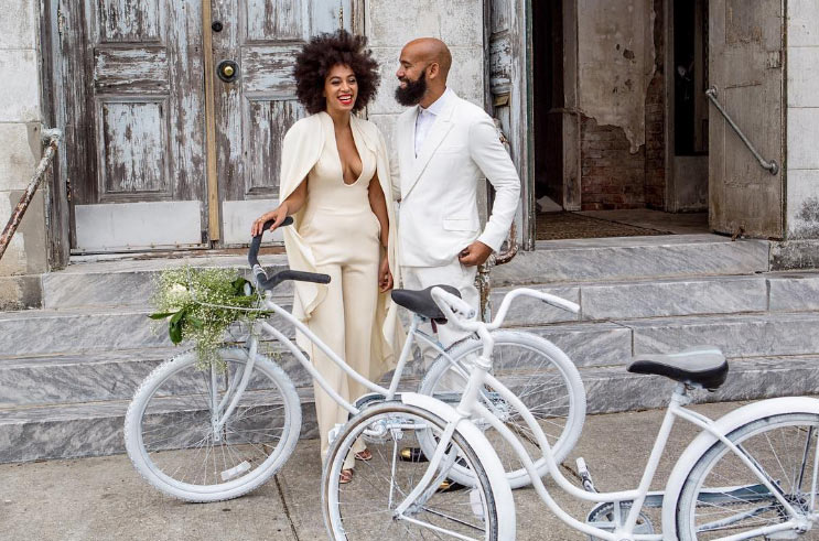 Solange and Alan Ferguson mark 2nd wedding anniversary with beautiful picture